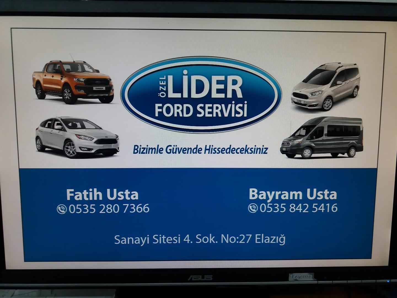 Ozel Lider Ford Servisi Elazig Merkez 0 535 280 73