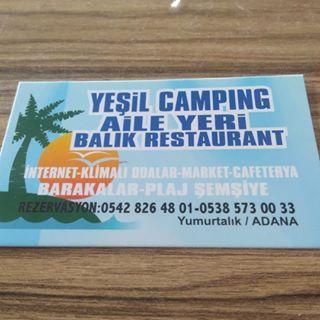 Yeşil Camping Kafe - Yumurtalık / Adana - 0 (538) 573 00 ** | Birmilyonnokta